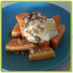 papaya and yogurt